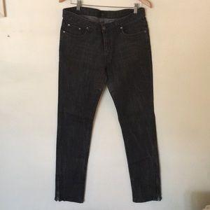 Iris distressed dark grey skinny jeans